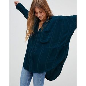 Free People Cozy Nights Oversized Top